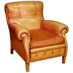20th Century Leather Italian Armchair, 1950