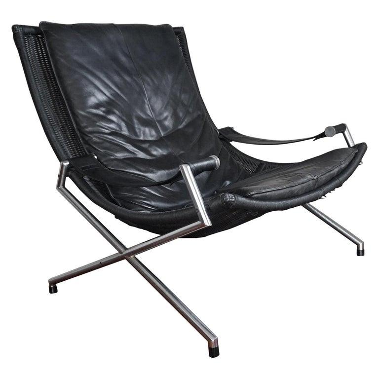 Fabulous 20Th Century Leather Lounge Chair By Gerard Van Den Berg 1980S Dutch Design Pabps2019 Chair Design Images Pabps2019Com