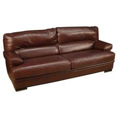 20th Century Leather Vintage Italian Sofa, 1980