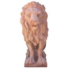 20th Century Leone Classico Statuette, Italian Terracotta Decor