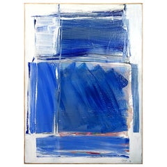 20th Century Light Blue Abstract Painting by Daniel Clesse