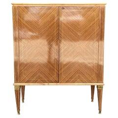 20th Century Light-Brown Italian Walnut Cabinet, Small Cupboard by Paolo Buffa