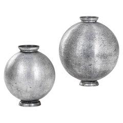 20th Century Lorenzo Burchiellaro Pair of Vase in Aluminium of '60s
