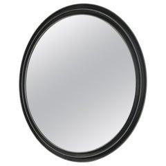 20th Century Lorenzo Burchiellaro Round Mirror in Aluminium Frame