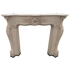 20th Century Louis Versailles White Mable Fireplace