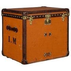 "20th Century Louis Vuitton Hat Trunk in Orange ""Vuittonite"" Canvas, circa 1900"