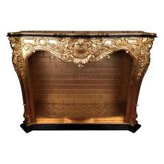 20th Century Louis XV Decorative Fireplace
