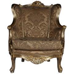 20th Century Louis XV Quinze Bergère Chair, Lounge