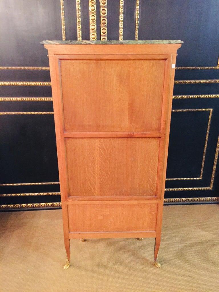 20th Century Louis XV Style Black Polished Salon Vitrine For Sale 9