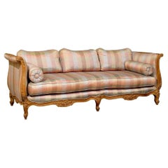 20th Century Louis XV Style Carved Wood Sofa or Daybed