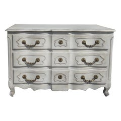 20th Century Louis XV Style Commode with Custom Paint, Three Drawers