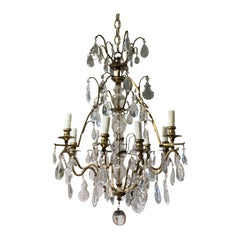 20th Century Louis XV Style Gilt Bronze and Crystal Chandelier