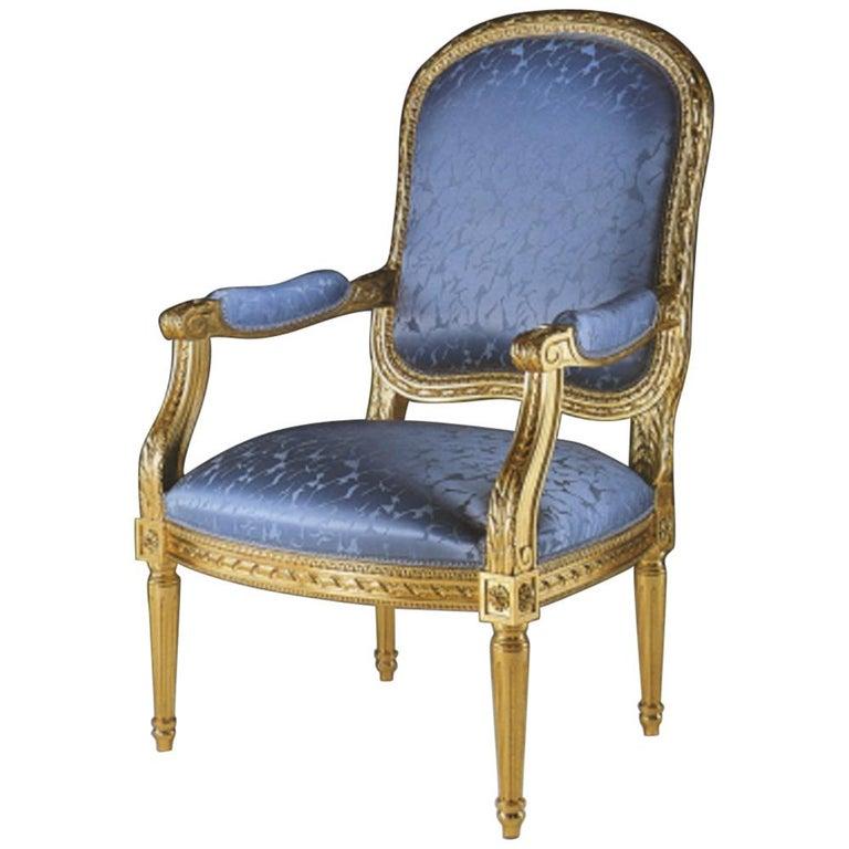 """20th Century Louis XVI Armchair """"Copy D'ancienne"""" For Sale"""