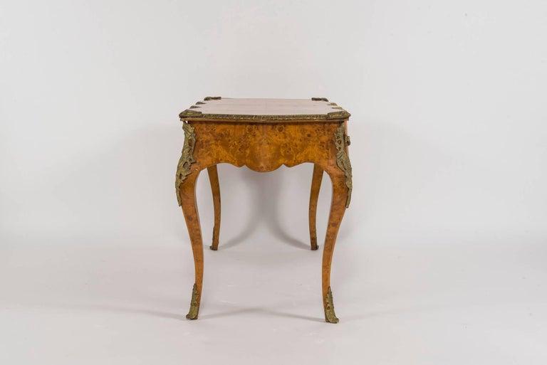 20th century Louis XVI style burl wood bureau plat.