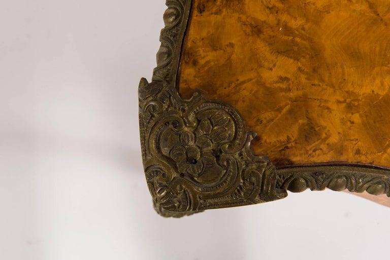 20th Century Louis XVI Style Burl Wood Bureau Plat For Sale 3