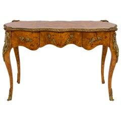 20th Century Louis XVI Style Burl Wood Bureau Plat