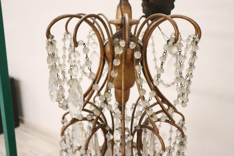 20th Century Louis XVI Style Gilded Bronze and Crystals Large Luxury Chandelier For Sale 7
