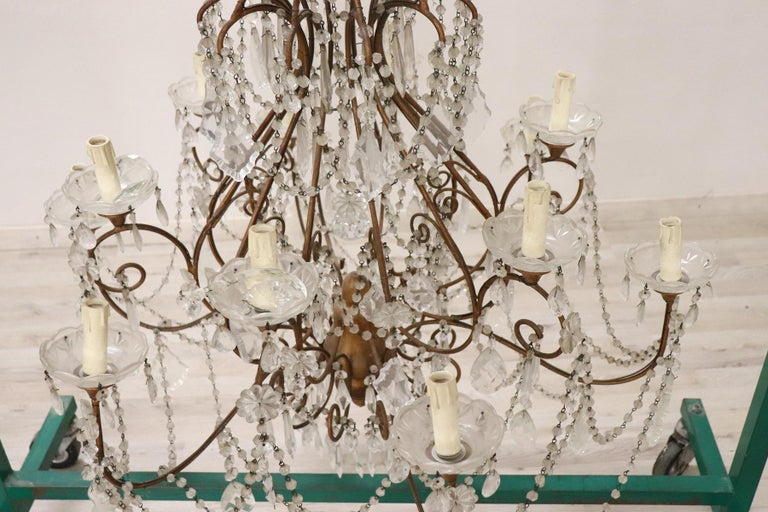 20th Century Louis XVI Style Gilded Bronze and Crystals Large Luxury Chandelier In Excellent Condition For Sale In Bosco Marengo, IT