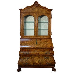 20th Century Louis XVI Style Italian Inlaid Secretary