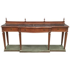 20th century Louis XVI Style Neoclassical Console Table with Three Drawers