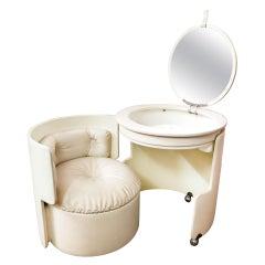 20th Century Luigi Massoni for Poltrona Frau Dilly Dally Leather Dressing Table
