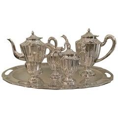 20th Century Maciel Mexican Sterling Silver Tea Set