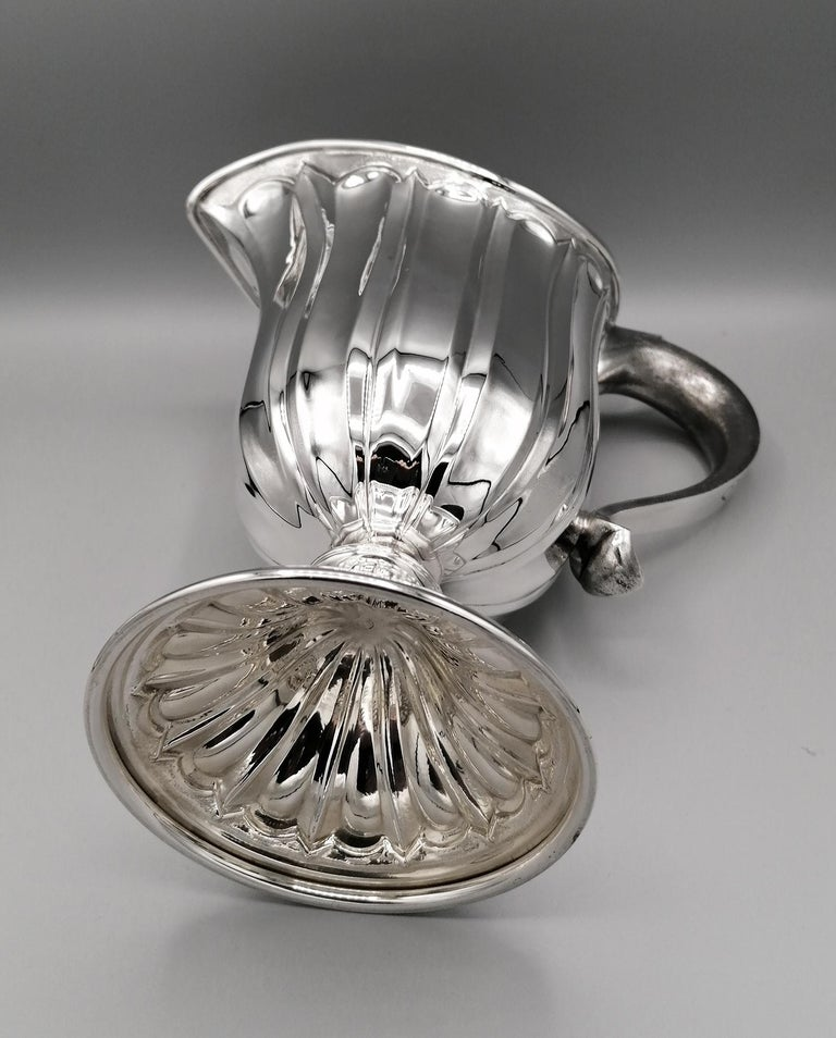 20th Century Made in Italy Sterling Silver Jug For Sale 6
