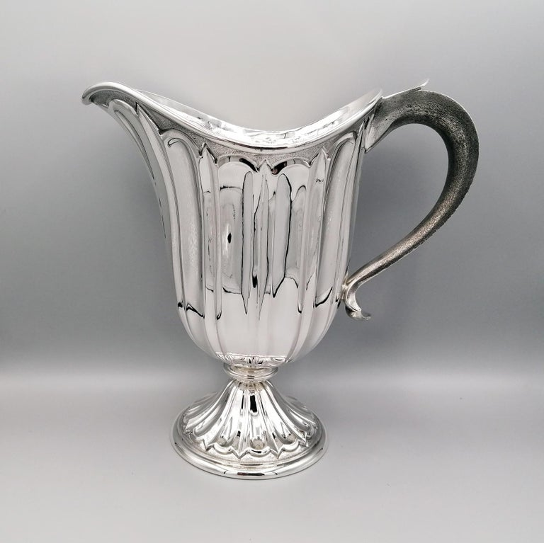 20th Century Made in Italy Sterling Silver Jug For Sale 8