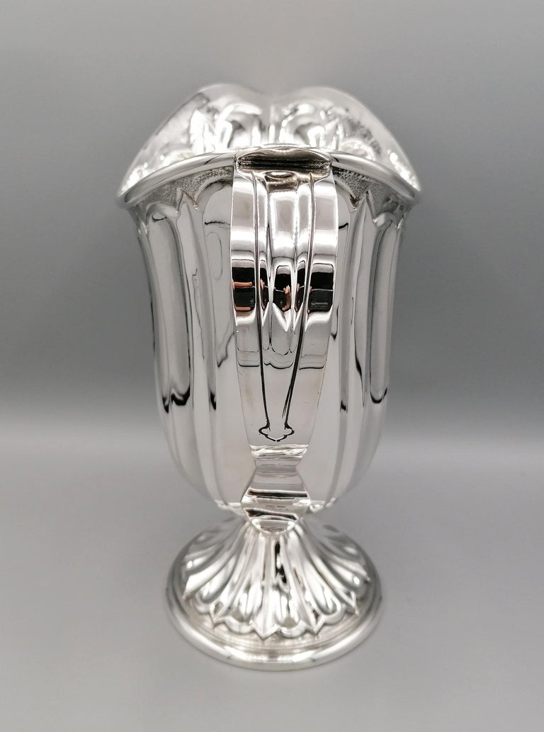 Italian 20th Century Made in Italy Sterling Silver Jug For Sale