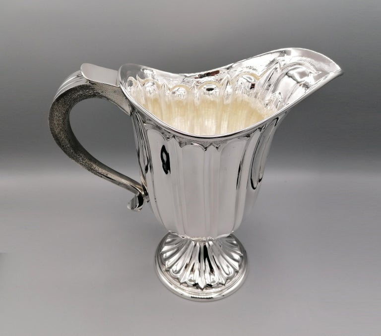 Late 20th Century 20th Century Made in Italy Sterling Silver Jug For Sale