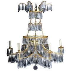 20th Century Magnificent, Classical Swedish Ceiling Crown, Chandelier