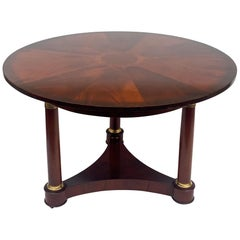 20th Century Mahogany Inlaid Empire Style Center Table by Baker Furniture