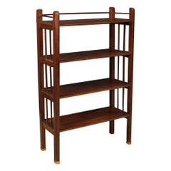 20th Century Mahogany Wood and Gild Brass French Art Deco Étagère, 1930