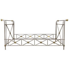 20th Century Maison Jansen Neoclassical Style Brass and Steel Daybed Frame