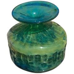 20th Century Maltese Art Glass Vase Signed Mdina