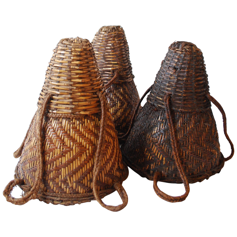 20th Century Mango Baskets from Cameroon Set of Three