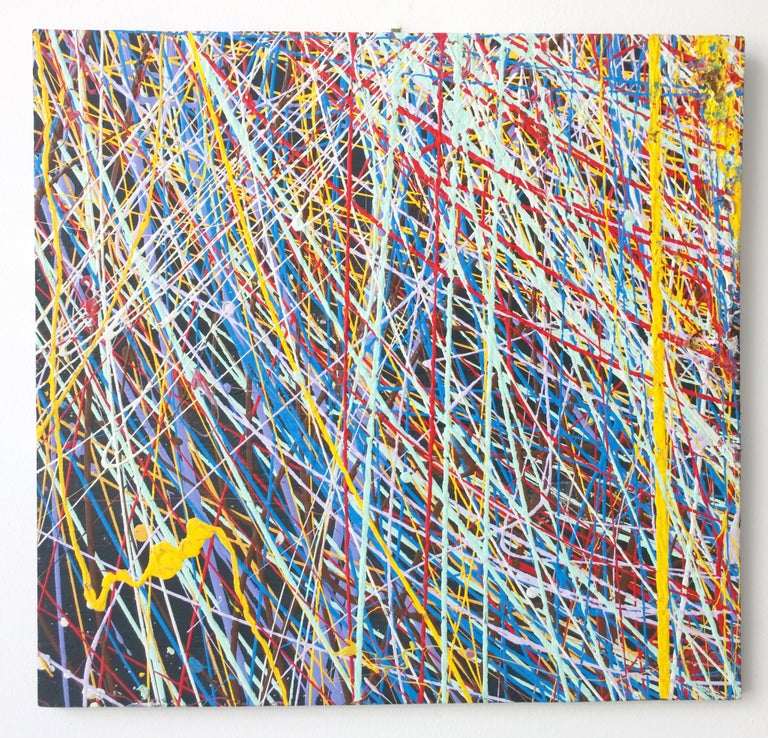 Offered is a 20th century painting (unsigned) in the manner of Jackson Pollock abstract Expressionist