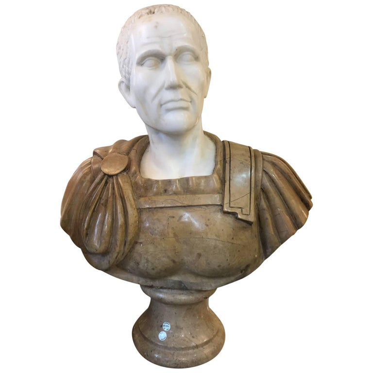 20th Century Marble Roman Bust For Sale
