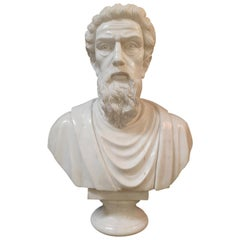 20th Century Marble Sculpture Bust of Roman Senator