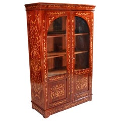 20th Century Marketerie Vitrine/Cabinet in the Dutch Biedermeier Style