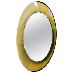 20th Century Max Ingrand for Fontana Arte Circular Wall Mirror in Curved Glass