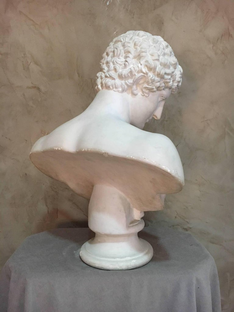 20th Century Men Plaster Bust Apollo, 1940s In Good Condition For Sale In LEGNY, FR