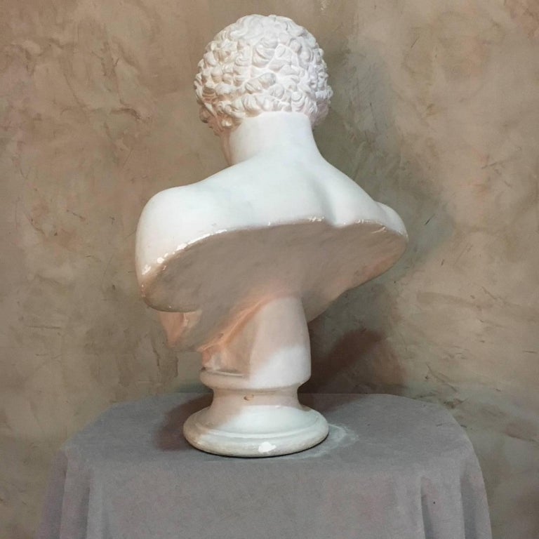 Mid-19th Century 20th Century Men Plaster Bust Apollo, 1940s For Sale