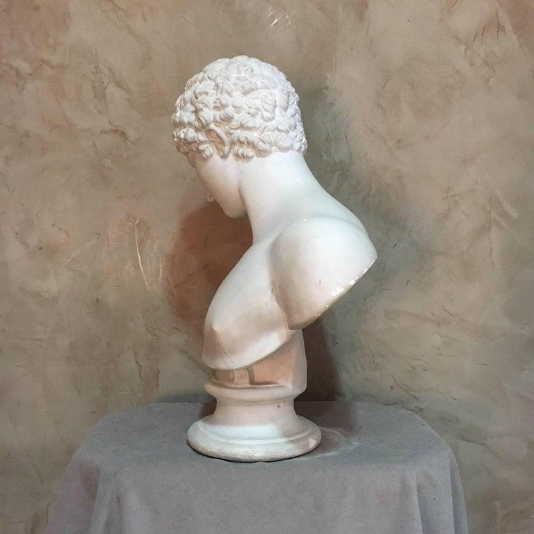 20th Century Men Plaster Bust Apollo, 1940s For Sale 1
