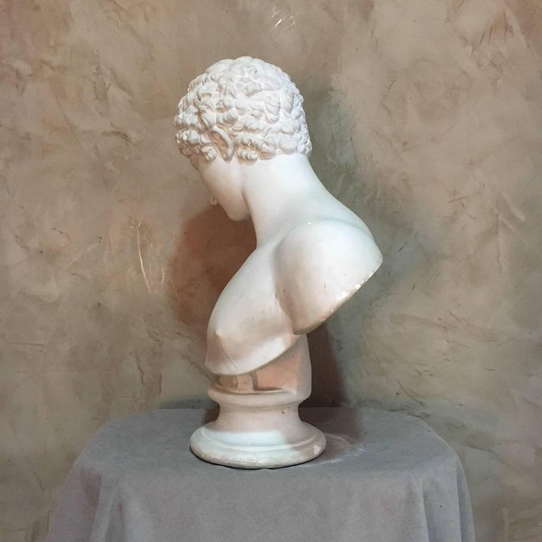 20th Century Men Plaster Bust Apollo, 1940s For Sale 1