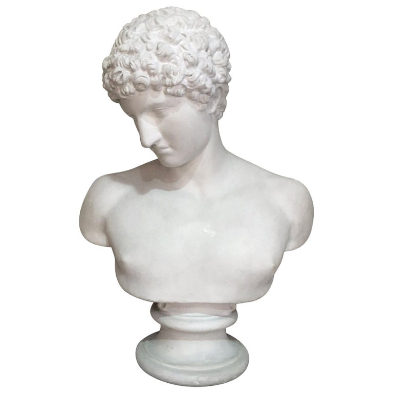 20th Century Men Plaster Bust Apollo, 1940s For Sale