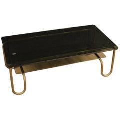 20th Century Metal and Glass Italian Design Coffee Table, 1970
