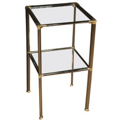 20th Century Metal and Glass Italian Design Side Table, 1980
