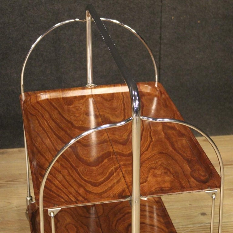 20th Century Metal and Plastic German Design Service Cart, 1970 For Sale 7