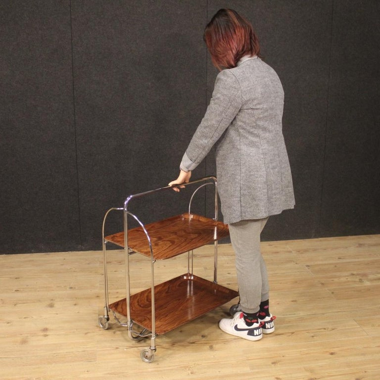 20th Century Metal and Plastic German Design Service Cart, 1970 For Sale 9